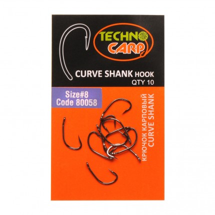 "Крючок карповый ""Curve Shank"" №8"