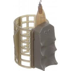Кормушка фидерная Medium 33*40мм с грунтозацепами 90гр