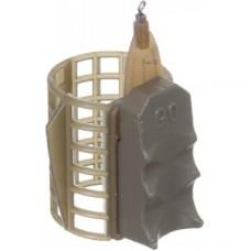 Кормушка фидерная Medium 33*40мм с грунтозацепами 100гр