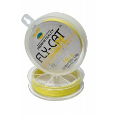 Шнур плетенный NTEC FlayCat 15Lb 0,14 yellow137м