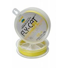 Шнур плетенный NTEC FlayCat 15Lb 0,14 yellow137м