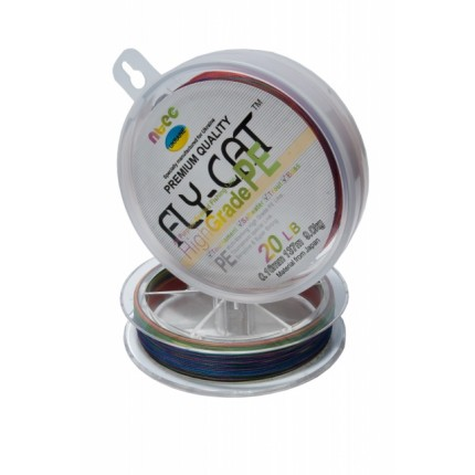 Шнур плетенный NTEC FlayCat 20Lb 0,16 multicilor137м