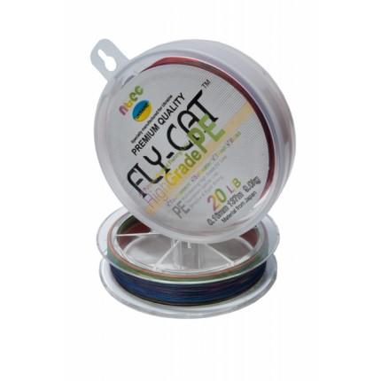 Шнур плетенный NTEC FlayCat 10Lb 0,12 multicilor137м