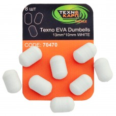 Texno EVA Dumbells 13mm*10mm white уп/8шт
