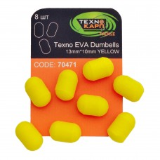 Texno EVA Dumbells 13mm*10mm yellow уп/8шт