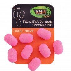 Texno EVA Dumbells 13mm*10mm pink уп/8шт
