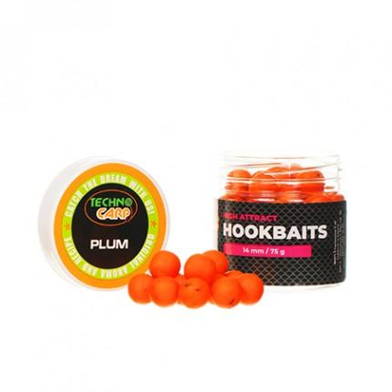 """Бойлы насадочные HookBaits """"Plum"""" d.14мм, 75грамм"""