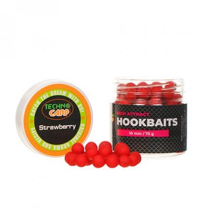"""Бойлы насадочные HookBaits """"Strawberry"""" d.10мм 75грамм"""