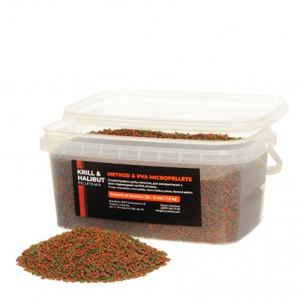 Method & PVA Micropellets Krill & Halibut Mix 1.5kg
