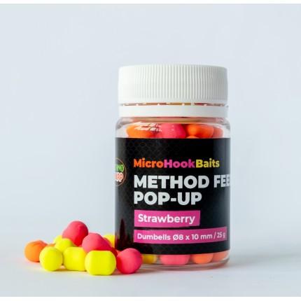 Бойлы Method Feeder Pop-Up Strawberry 8*10мм
