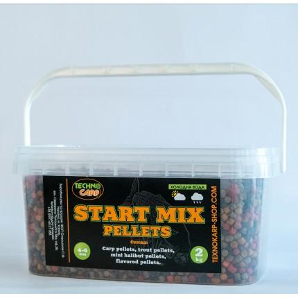 Start Pellets MIX  4-6мм (холодная вода) 2кг.