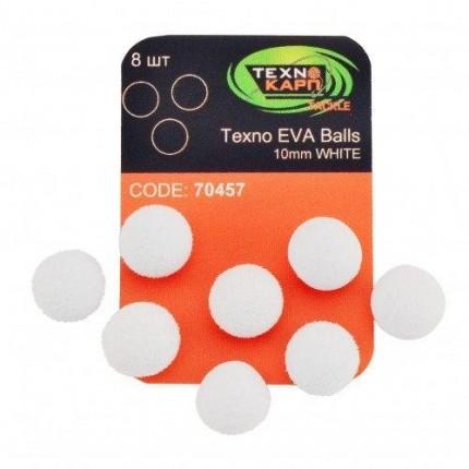 Texno EVA Balls 10mm white уп/8шт