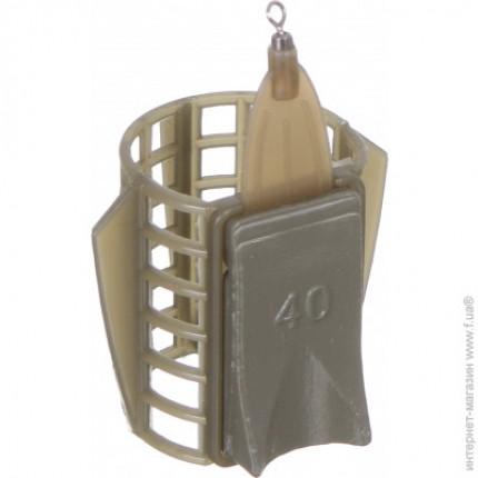 Кормушка фидерная Medium 33*40мм с грунтозацепами 40гр