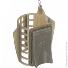 Кормушка фидерная Medium 33*40мм с грунтозацепами 30гр