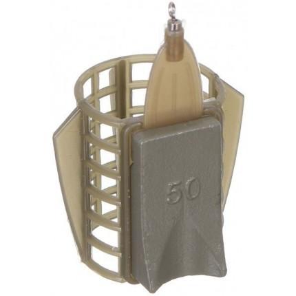 Кормушка фидерная Medium 33*40мм с грунтозацепами 50гр