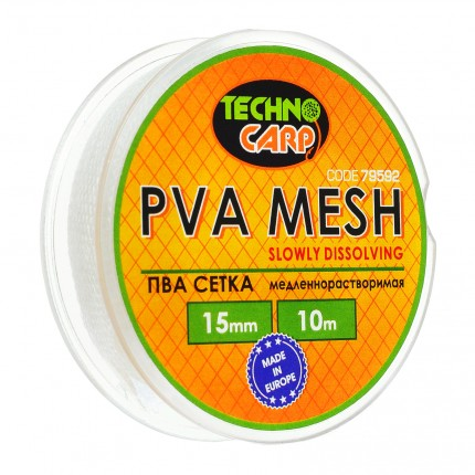 PVA сетка медленно растворимая 15мм, 10м.