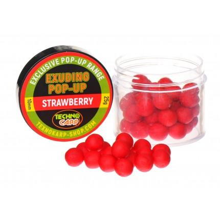 """Бойлы Pop-Up Exuding """"Strawberry"""" 25грамм"""