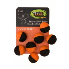 Texno EVA Balls 10mm black/orange уп/8шт